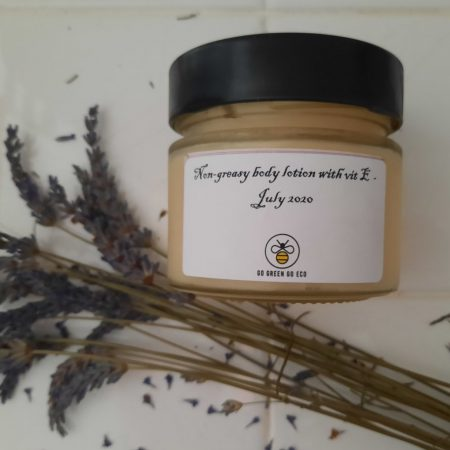 Non-greasy lotion with lavender