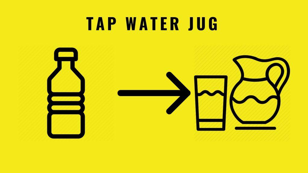 Eco-friendly swaps - Tap water jug