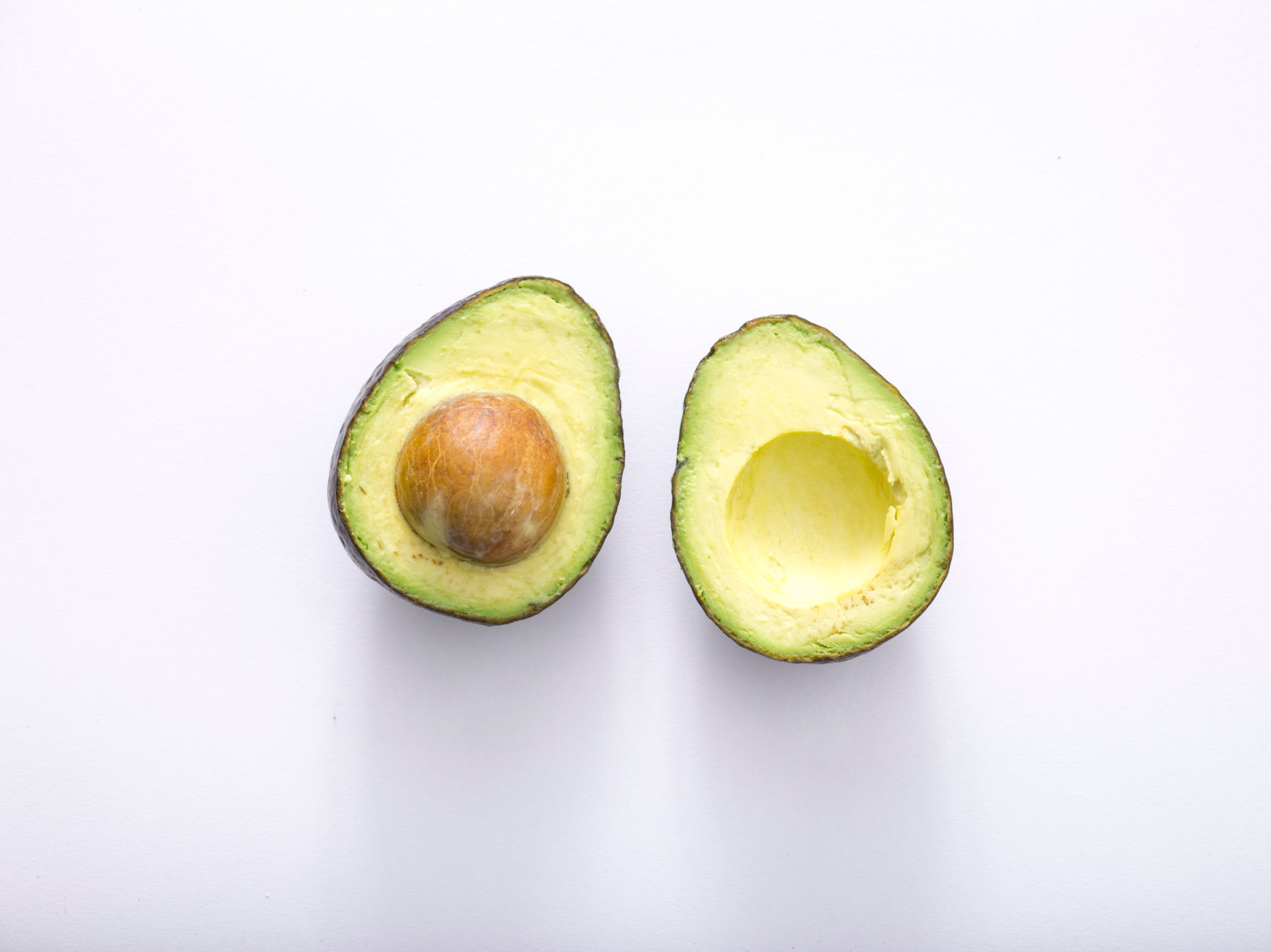 Natural face mask with avocado